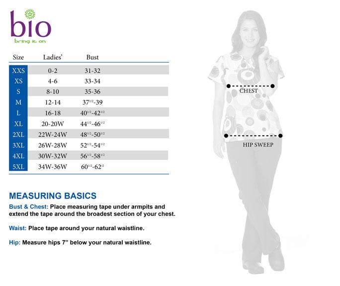 BIO size chart