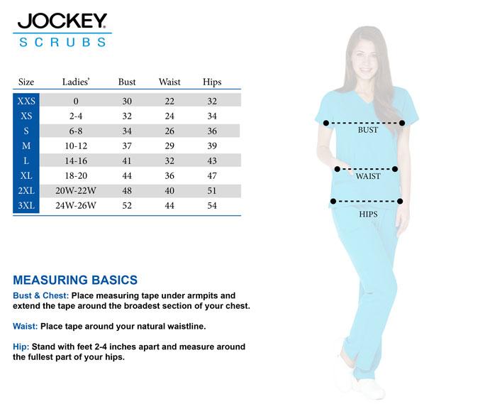 Jockey size chart