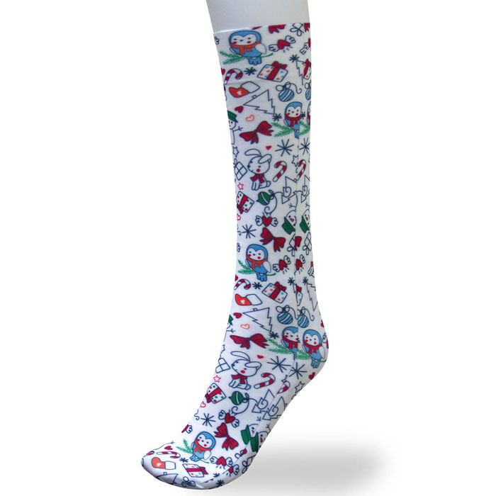 Cutieful-0815-SNOW-Therapeutic-Compression-Socks-Ode-To-Christmas