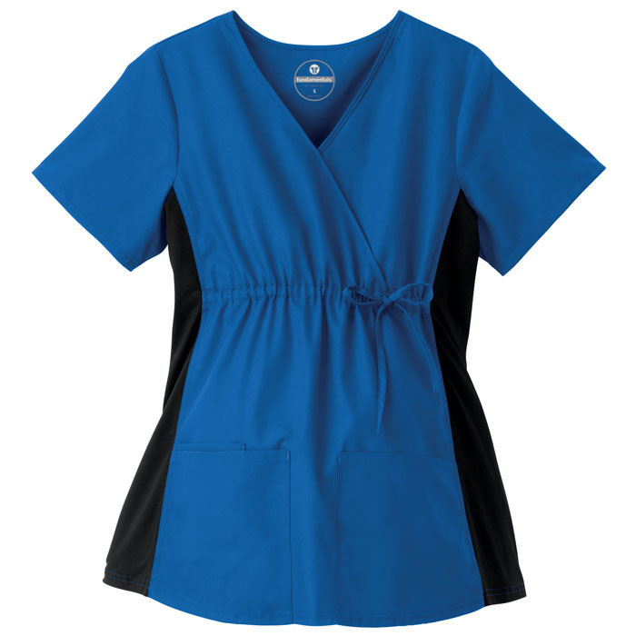 F3-Fundamentals-14375-Maternity-Mock-Wrap-Top-with-Stretch-Side-Panels