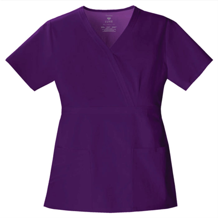 Luxe-by-Cherokee-1841-Mock-Wrap-Scrub-Top