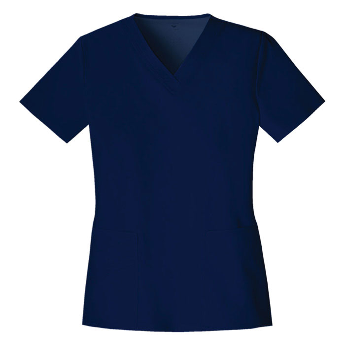 Luxe-by-Cherokee-1845-V-Neck-Scrub-Top