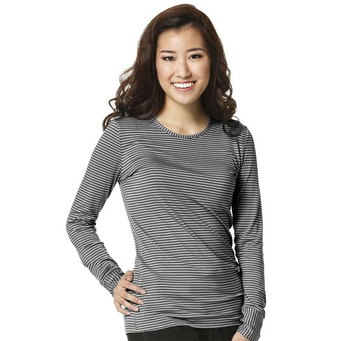 WonderWink-Layers-2079-Ladies-Long-Sleeved-Striped-Tee