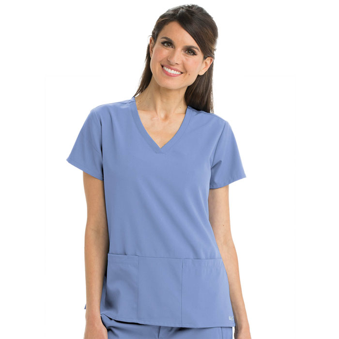 Greys-Anatomy-Signature-2115-3-Pocket-Criss-Cross-V-Neck-Scrub-Top