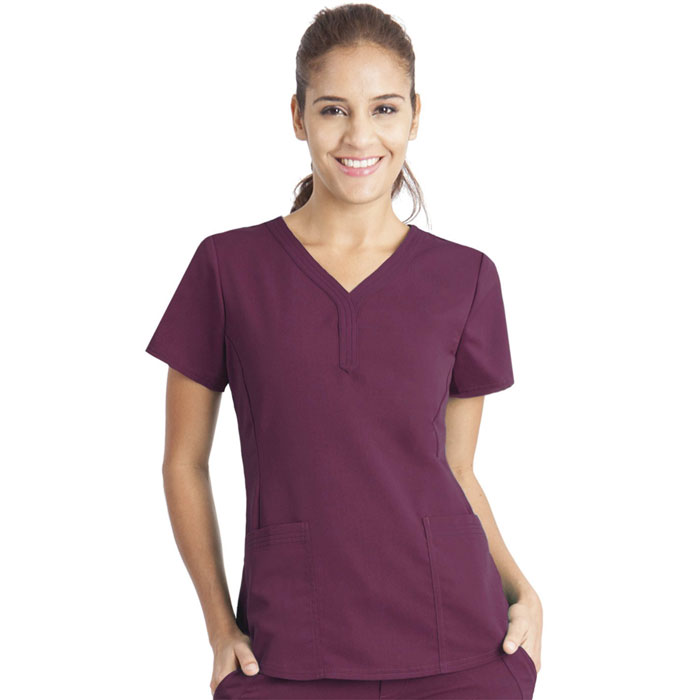 Healing-Hands-Purple-Label-2167-Jane-2-Pkt-V-Neck-Scrub-Top