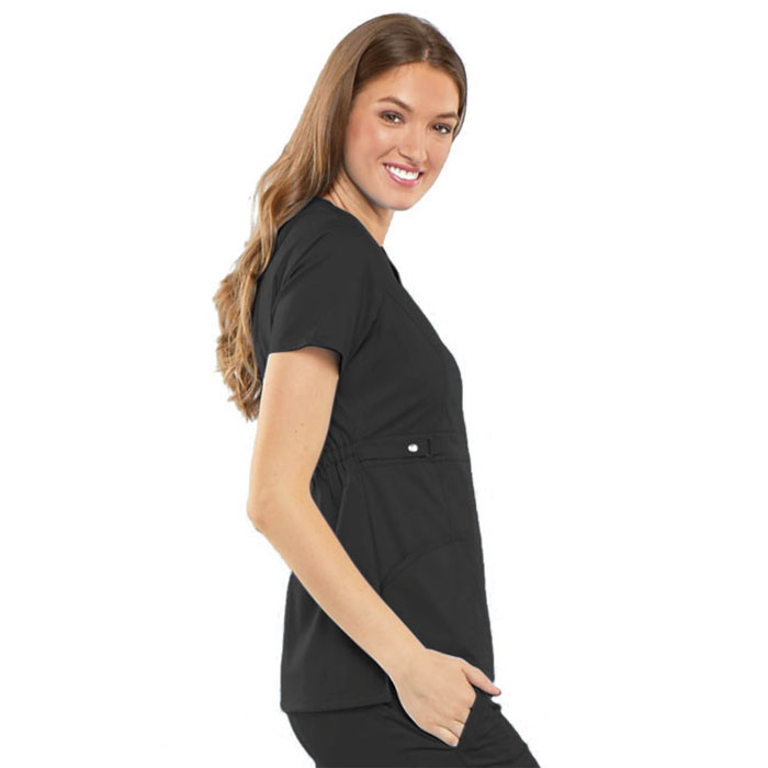 87c05f9a1f3 Luxe by Cherokee, Empire Waist Mock Wrap Scrub Top