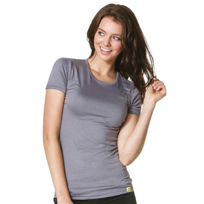 51df4125 WonderWink Layers, Ladies Silky Short Sleeved Tee