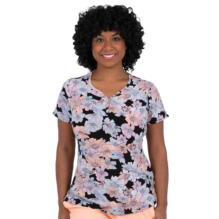 2218-FOF-Isabel-V-Neck-Scrub-Top-Field-of-Flowers