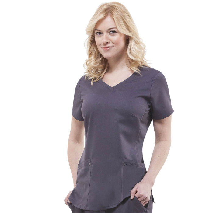 Healing-Hands-Purple-Label-2245-Juliet-V-Neck-Knit-Panel-Scrub-Top