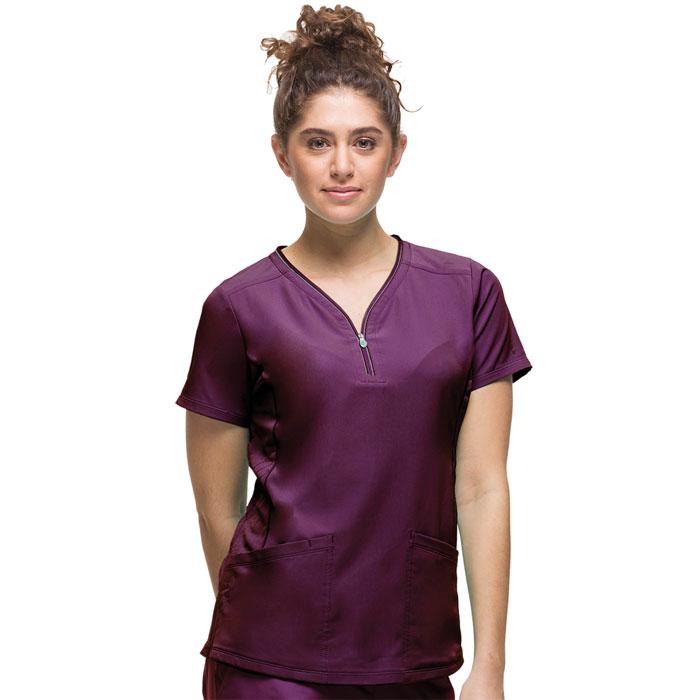 HH360-HH2254-Sonia-Zipper-Neckline-Scrub-Top