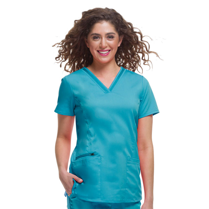 Healing-Hands-Purple-Label-2278-Jasmin-Three-Pocket-V-Neck-Scrub-Top