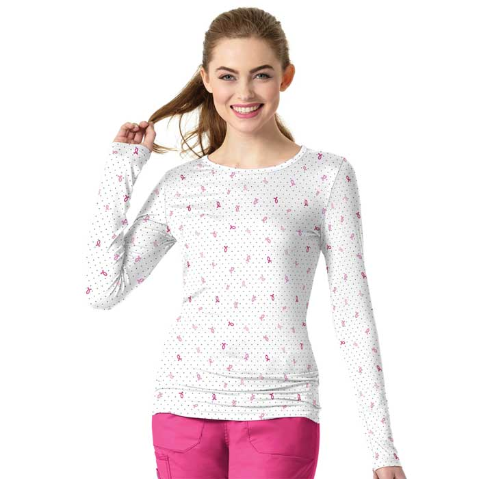 WonderWink-Layers-2409-FGH-Ladies-Silky-All-Over-Print-Tee-Fight-Like-a-Girl