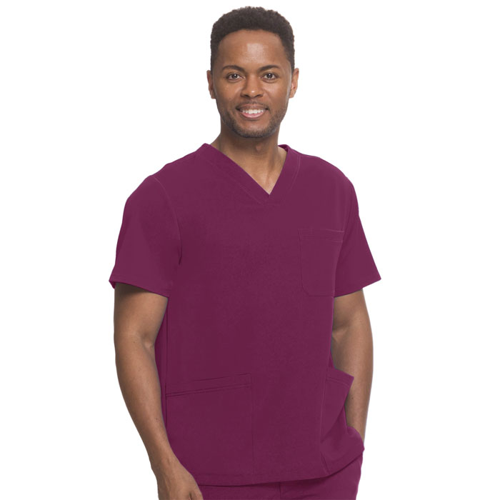 HH-Works-2590-Matthew-4-Pkt-Back-Yoke-Mens-V-Neck-Scrub-Top