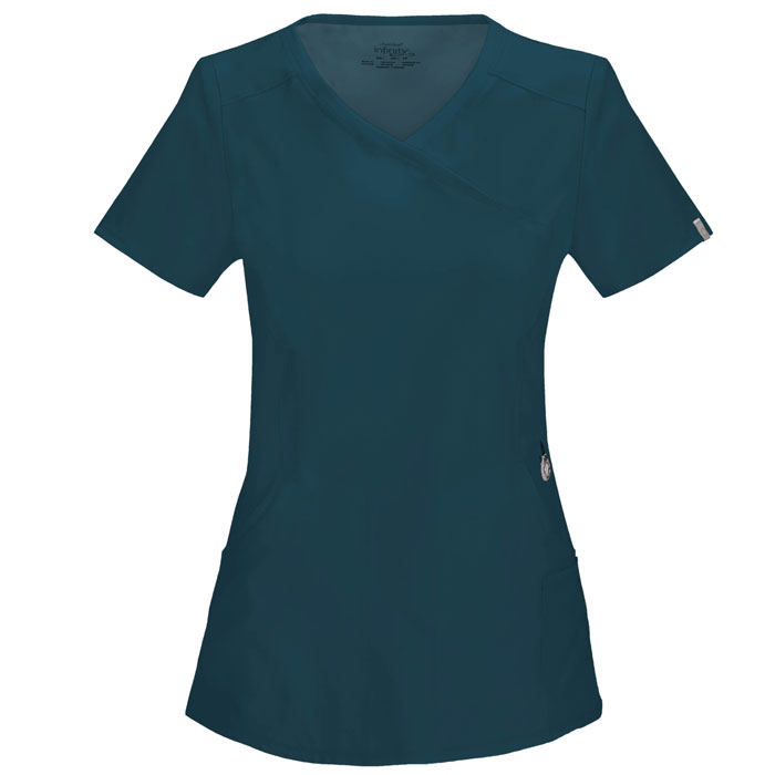Infinity-by-Cherokee-2625A-Mock-Wrap-Scrub-Top