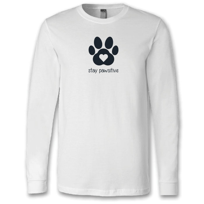 Bella-Canvas-Unisex-Long-Sleeve-Shirt---Stay-Pawsitive-3501SP