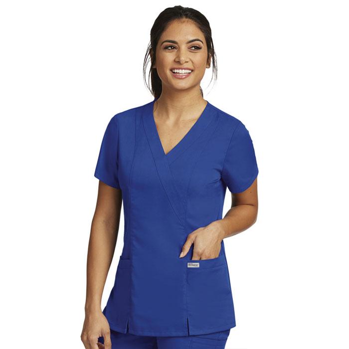 Greys-Anatomy-41101-Womens-2-Pocket-Crossover-Scrub-Top