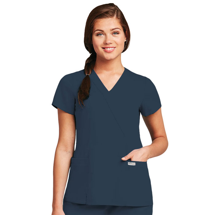 Greys-Anatomy-41101-Womens-2-Pocket-Crossover-Scrub-Top