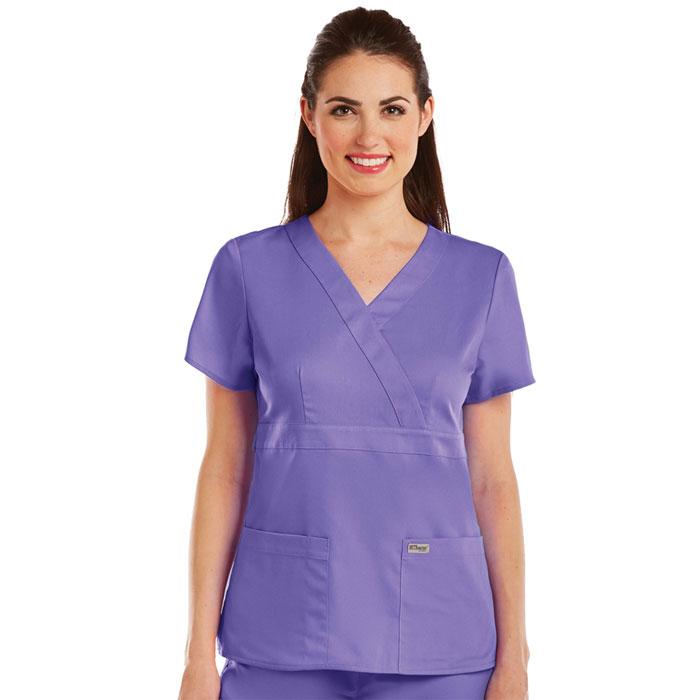 Greys-Anatomy-4153-Womens-3-Pkt-Mock-Wrap-Top