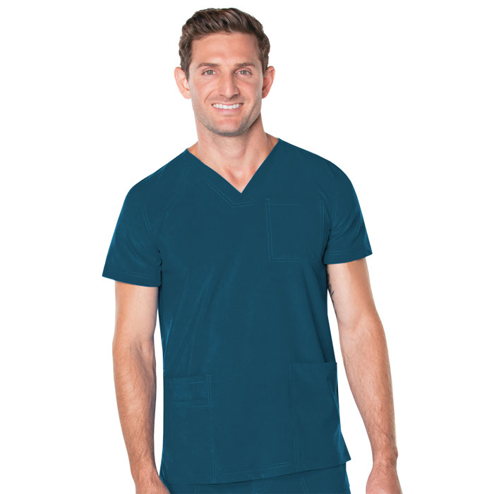 Landau-Proflex-Mens-V-Neck-4-Pocket-Top-4253