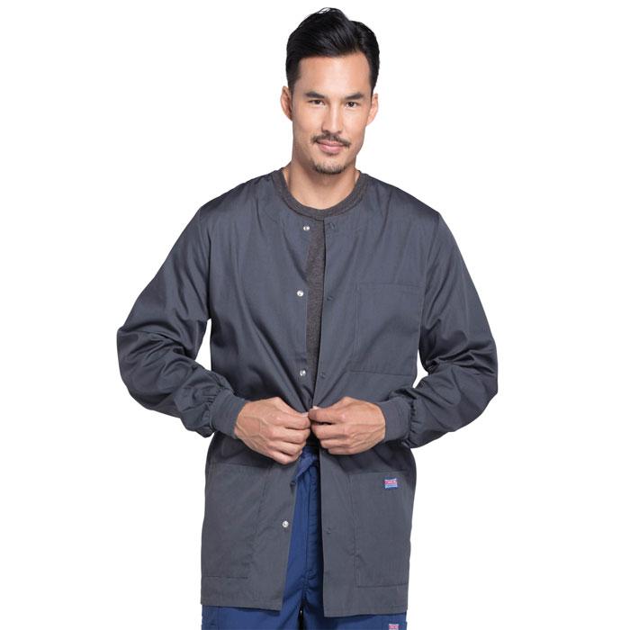 48df9eae903 Cherokee Workwear - Mens Snap Front Warm-Up Jacket