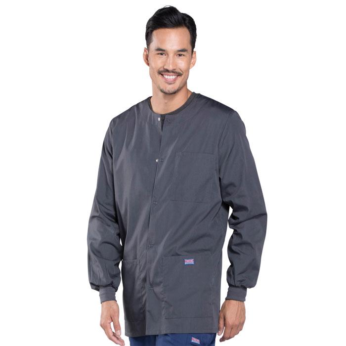 1055fc0f026c4 Cherokee Workwear - Mens Snap Front Warm-Up Jacket