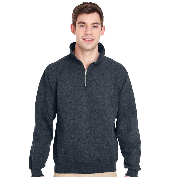 Jerzees-4528-Adult-9.5-oz.-Super-Sweats®-NuBlend®-Fleece-Quarter-Zip-Pullover