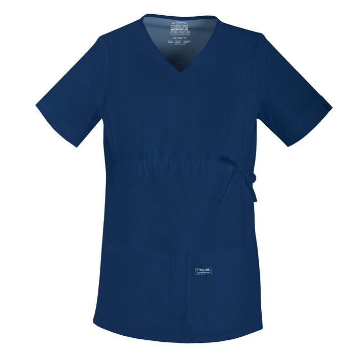 Cherokee-Core-Stretch-4708-Maternity-V-Neck-Knit-Panel-Top