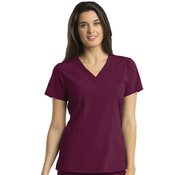 Barco-One-5105-Womens-4-Pkt-V-Neck-Top