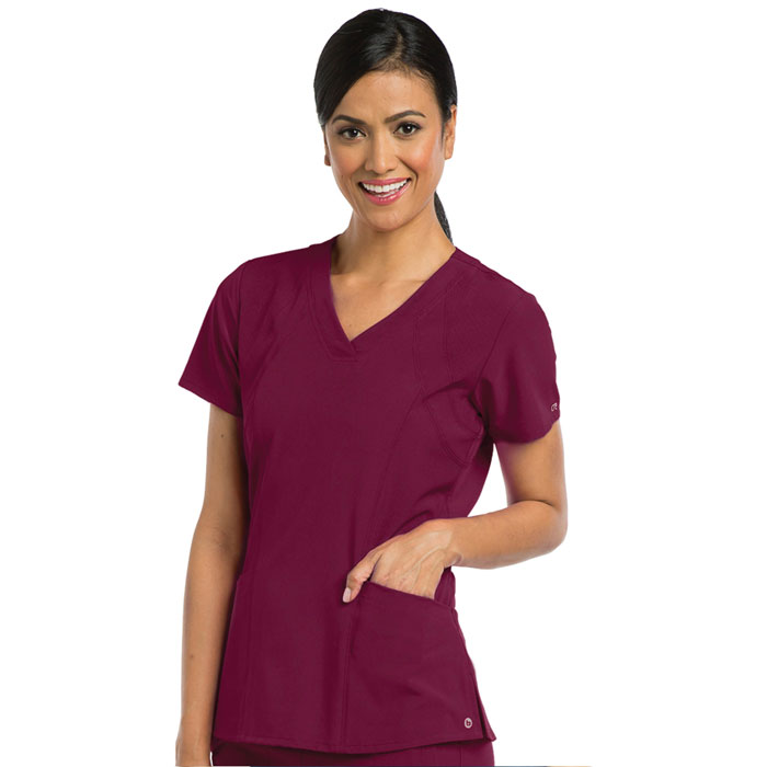 Barco-One-5106-Womens-5-Pkt-V-Neck-Top