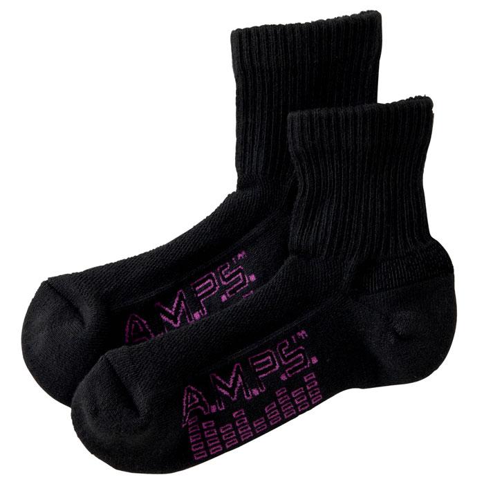 A.M.P.S.-5856-015-Ladies-Quarter-Crew-Performance-Footwear-Quarter-Crew