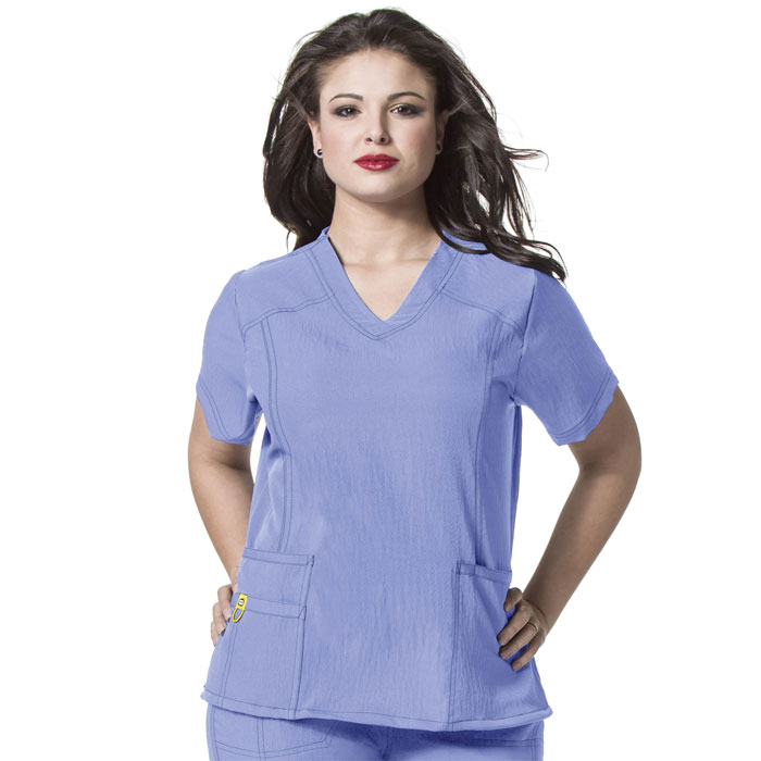 WonderWink-Plus-6105-Curved-V-Neck-Scrub-Top