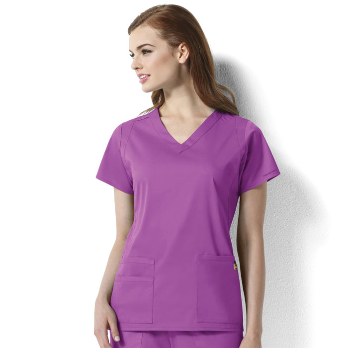 WonderWink-Next-6119-Charlotte-V-Neck-Scrub-Top-