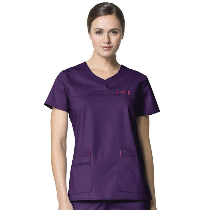 WonderFLEX-6208-Patience-Curved-Notch-Neck-Scrub-Top