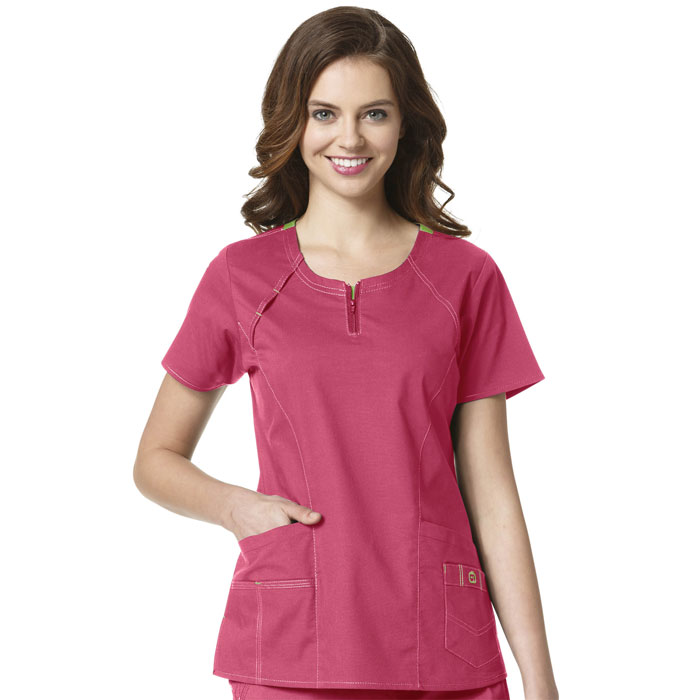 WonderFLEX-6408-Heaven-Fashion-Zip-Scrub-Top