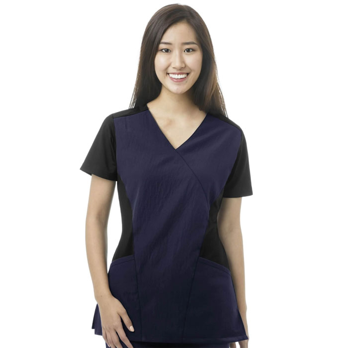 FFX-Sport-6714-Mock-Wrap-Scrub-Top