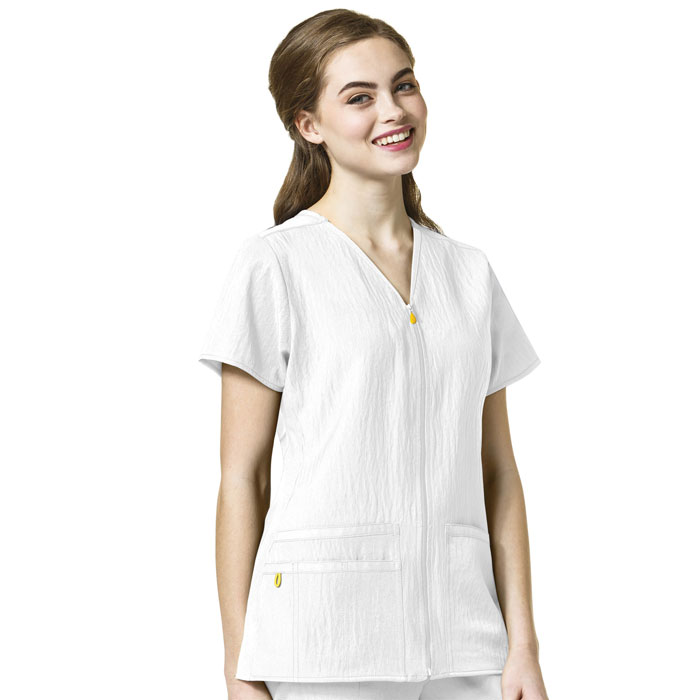 Four-Stretch-6914-Sporty-Zip-Front-Top