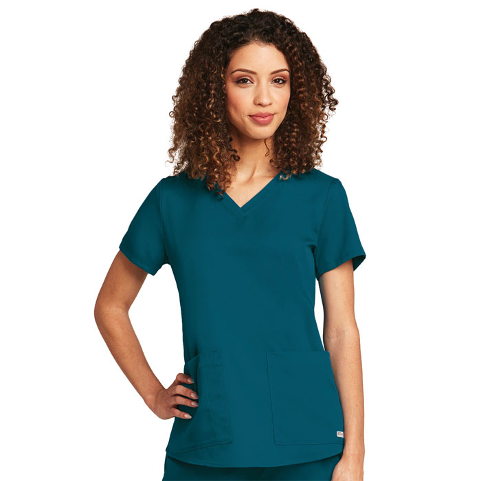 Greys-Anatomy-71166-Womens-2-Pkt-Vneck-Top