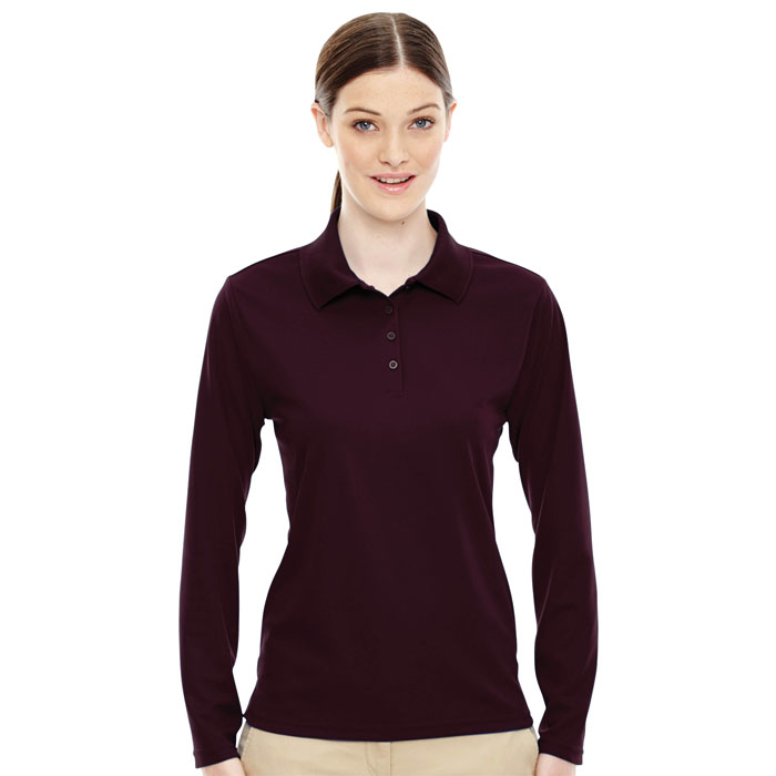 Ash-City---Core-365-78192-Ladies-Pinnacle-Performance-Long-Sleeve-Piqué-Polo