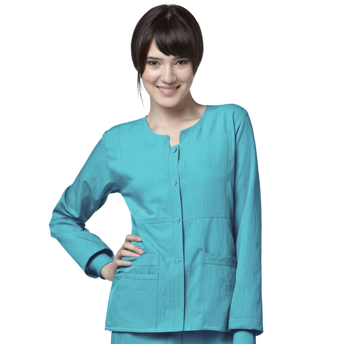 Four-Stretch-8114-Sporty-Button-Front-Jacket