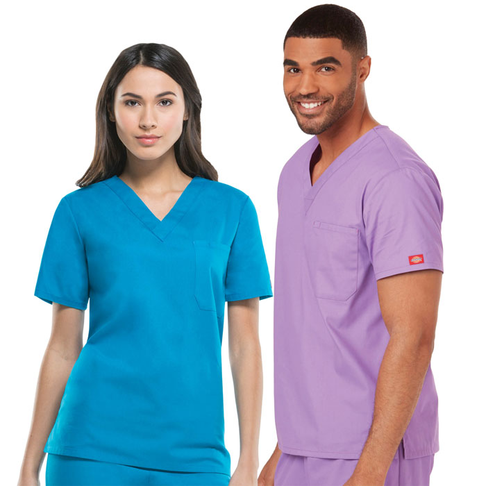 Dickies EDS Signature,  83706, Unisex V-Neck  Scrub Top