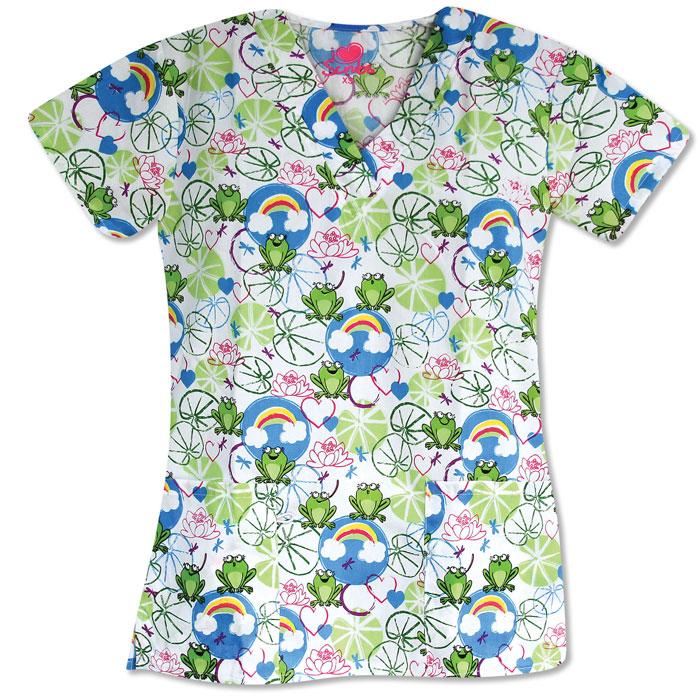 9904-1286-Ladies-3-Pocket-V-Neck-Top-ON-THE-POND-