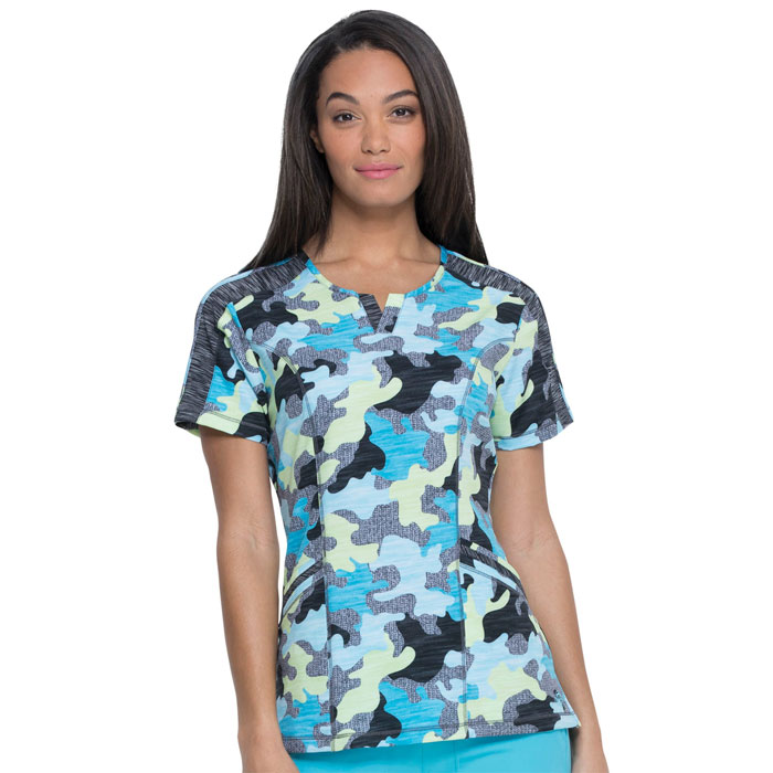 Dickies-Ladies-Scrub-Top-Totally-Textured-Camo-DK664-TLLT