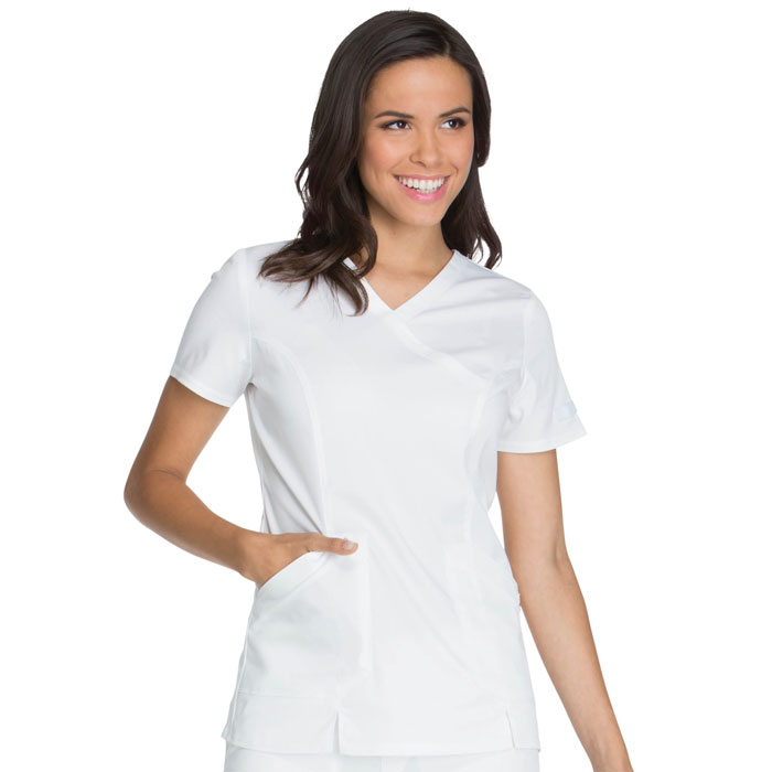 Dickies-Essence-DK804-Ladies-Mock-Wrap-Scrub-Top