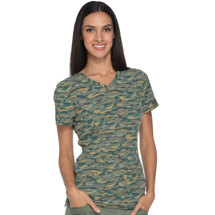 Dickies-Essence-DK808-GEOE-V-Neck-Top-Get-Back-In-Line-Olive