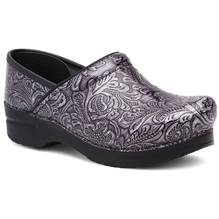 Dansko, Professional, 706-940202, Grey Tooled  Patent Leather