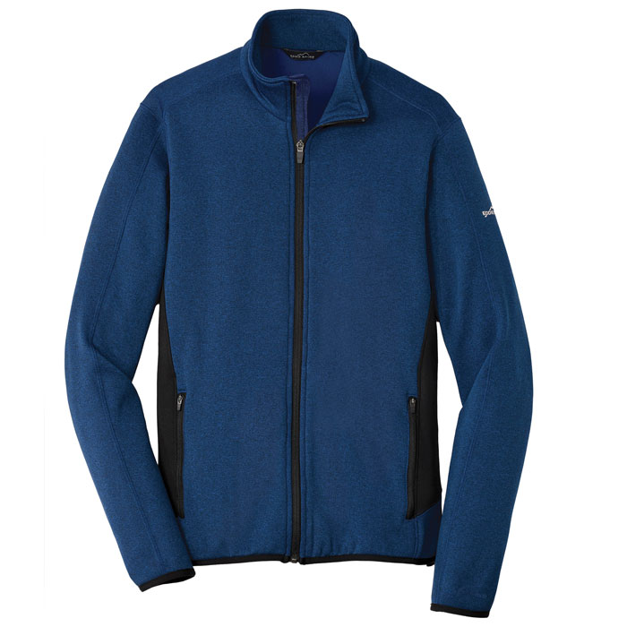 Eddie-Bauer-EB238-Full-Zip-Heather-Stretch-Fleece-Jacket