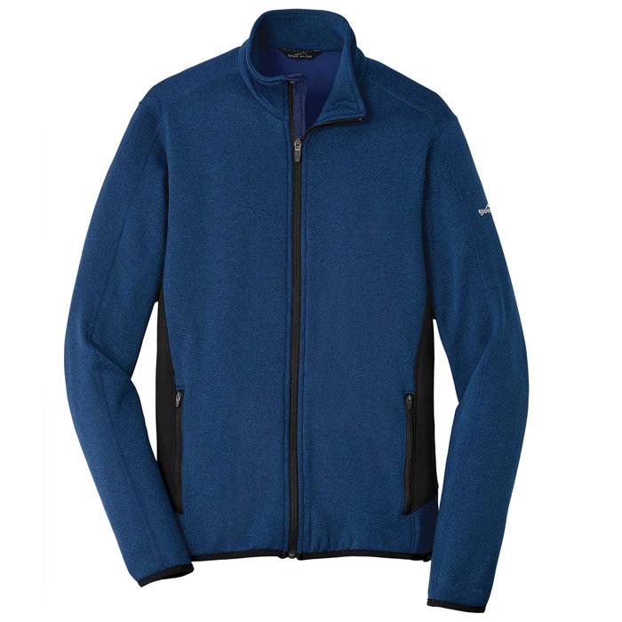 Eddie-Bauer-EB238-Full-Zip-Heather-Stretch-Fleece-Jacket
