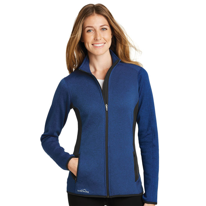 Eddie-Bauer-EB239-Ladies-Full-Zip-Heather-Stretch-Fleece-Jacket
