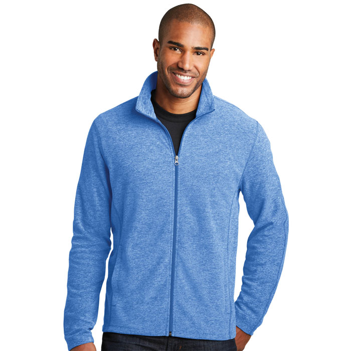 Port-Authority-F235-Mens-Heather-Microfleece-Full-Zip-Jacket