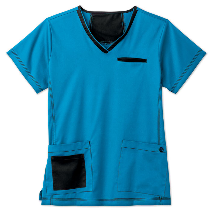 bio---bring-it-on-19025-BIO-Contrast-V-Neck-Scrub-Top